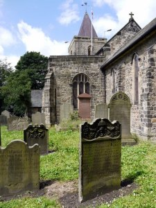 Graveyard at St. Michael & All Angels in Newburn, Tyne and Wear, by Andrew Curtis