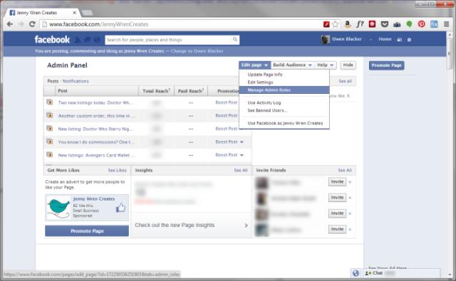 Facebook: Manage Admin Rôles